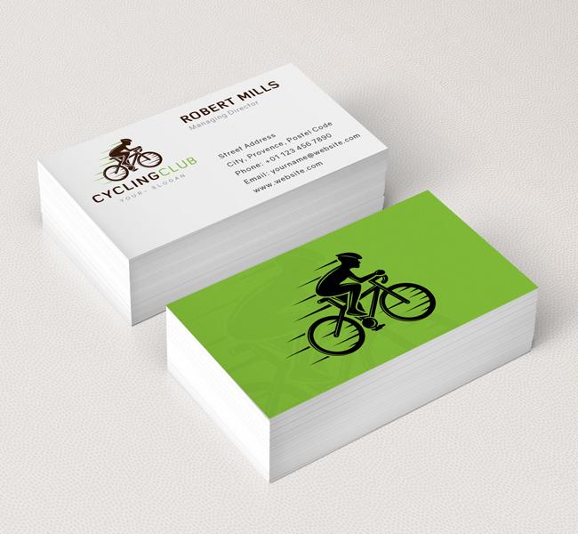 Cycling Club Logo  Business Card Template - The Design Love - club card design