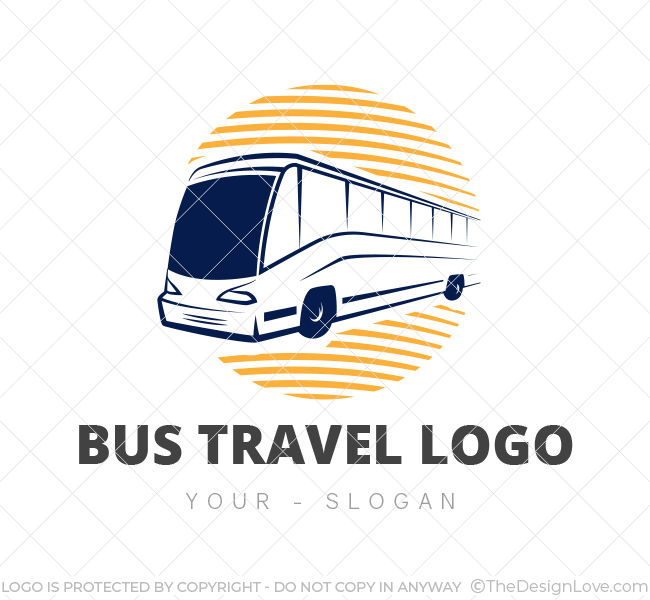 Bus Travel Logo  Business Card Template - The Design Love - bus pass template