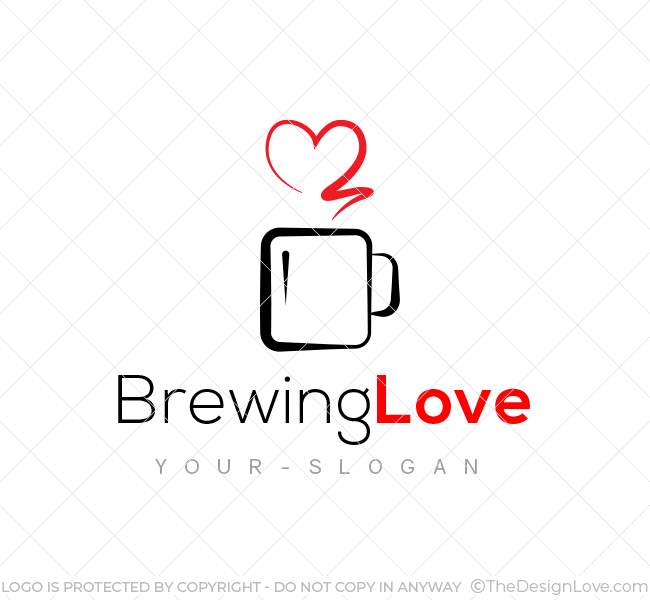 Brewing Love Logo  Business Card Template - The Design Love