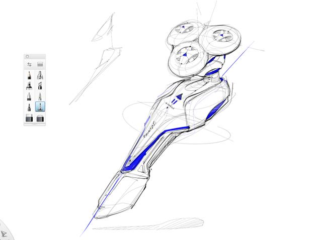 sketching razor-sketchbook pro