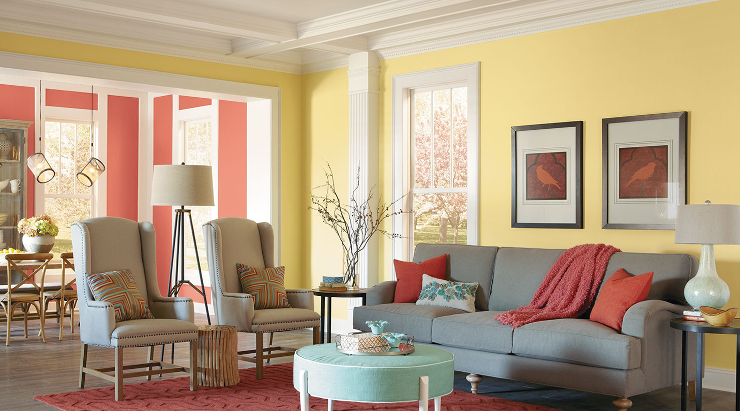 Paint Colors That Flow From Room To Room 50 Living Room Paint Color Ideas For The Heart Of The Home
