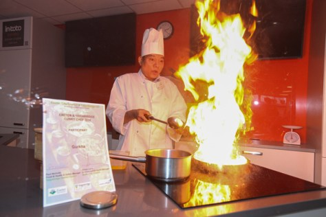 Top Swar, of Gurkha Chef, Newton Abbo