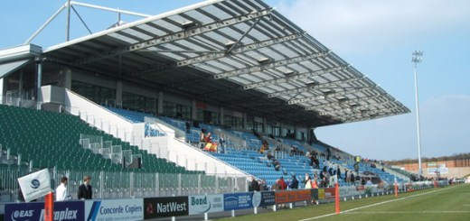 Exeter Chiefs Stadium, Sandy Park, Exeter .The copyright on this image is owned by Valerie Huggins and is licensed for reuse under theCreative Commons Attribution-ShareAlike 2.0 license.