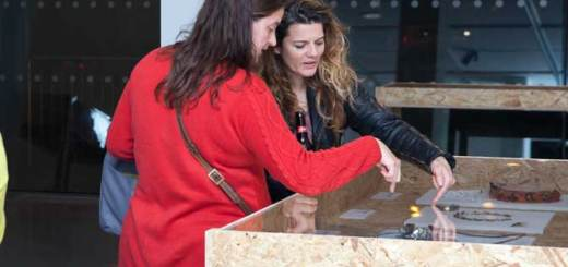 Jewellery artist Maria Whetman (right) at the Sleight of Hand launch