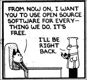 Dilbert on Open Source