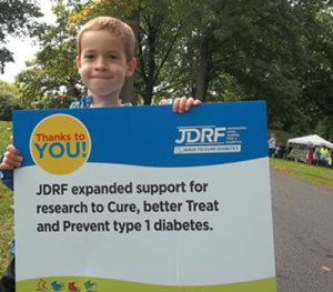 TDN team family member at our local JDRF walk