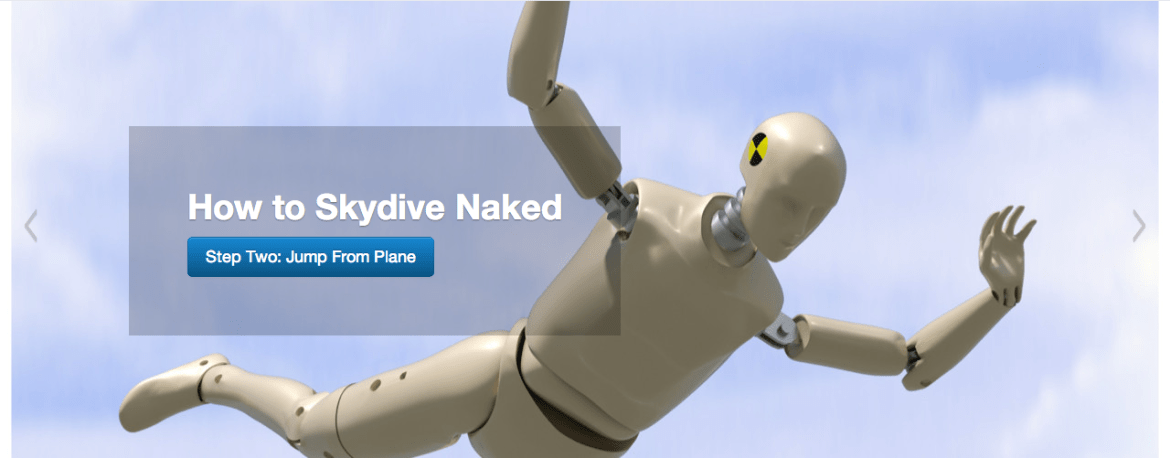 How to SkyDive Naked