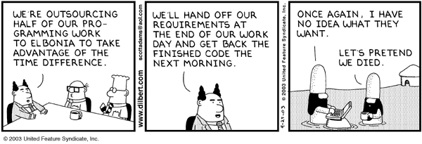 Dilbert and outsourcing