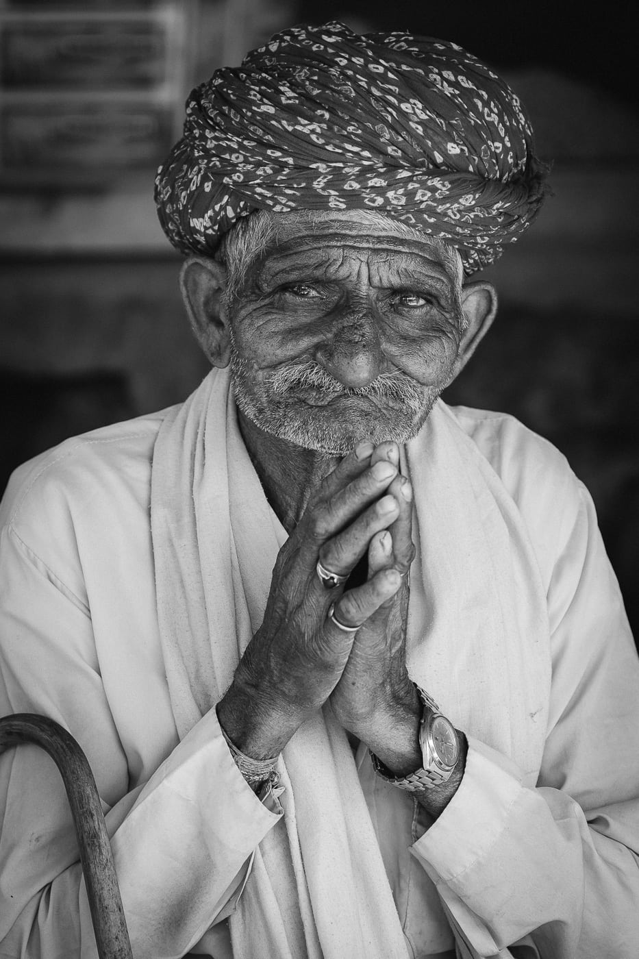 Another man at the tea stall on the road to Pushkar.