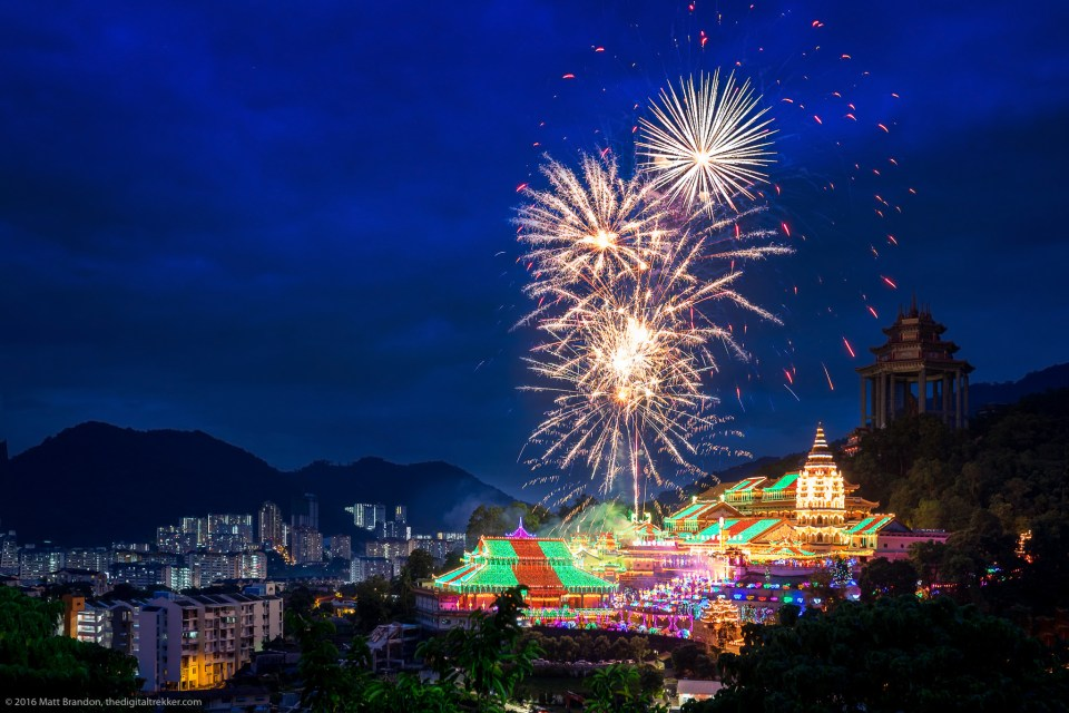 Kek Lok Si Temple, Penang, Malaysia, Chinese New Year, Fireworks
