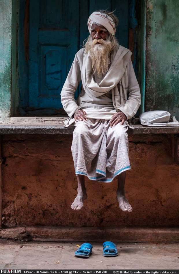 "This old ""fakir baba"" was photographed with available light. Zoom in by clicking the photo to see the detail. But compare it to the next photo shot with the Cactus off camera."