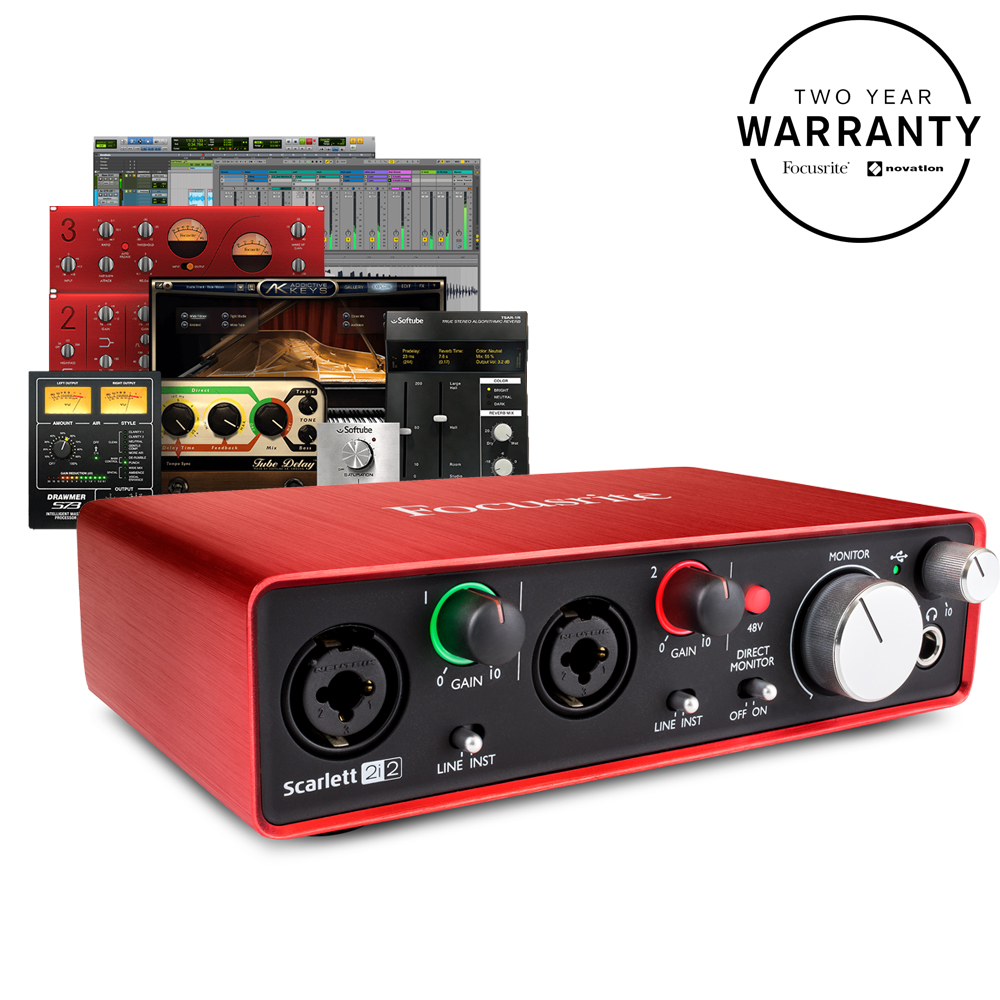 Scarlett 2i2 Focusrite Scarlett 2i2 2nd Gen Audio Interface Free Plugin Bundle