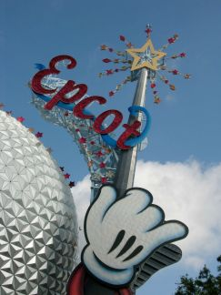 Spaceship Earth with wand - throwback thursday