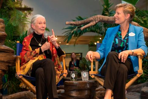 Dr. Jane Goodall and Dr. Beth Stevens at Disney's Animal Kingdom