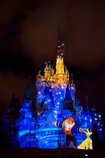 "projection show ""Once Upon a Time"" magic kingdom"