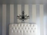 DIY Interior Painting: Vertical Stripes Make Ceilings Look ...