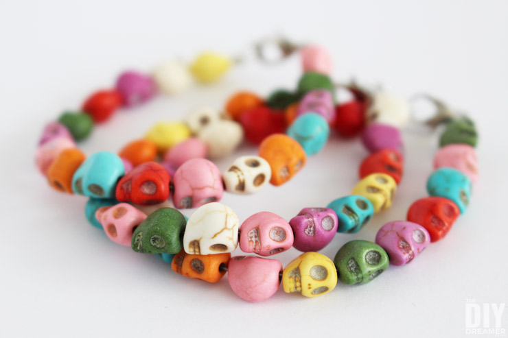 Colorful Skull Bracelets Easy Diy Jewelry Tutorial