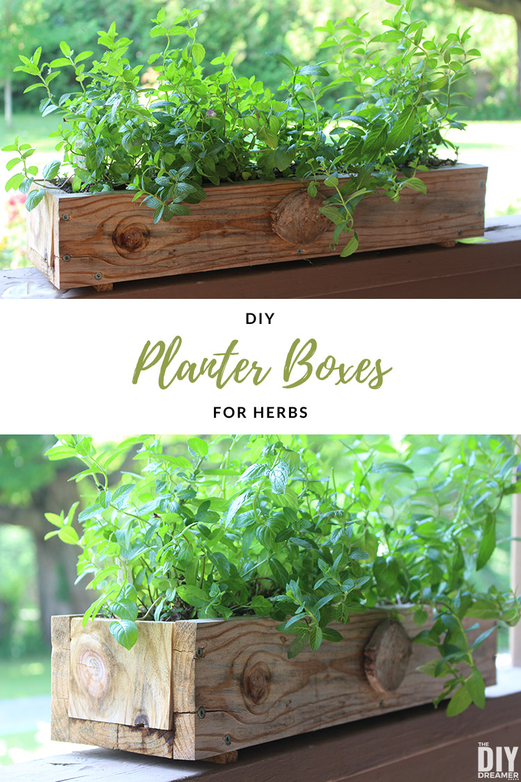 Planter For Herbs Diy Planter Boxes For Herbs How To Make A Planter Box The Diy