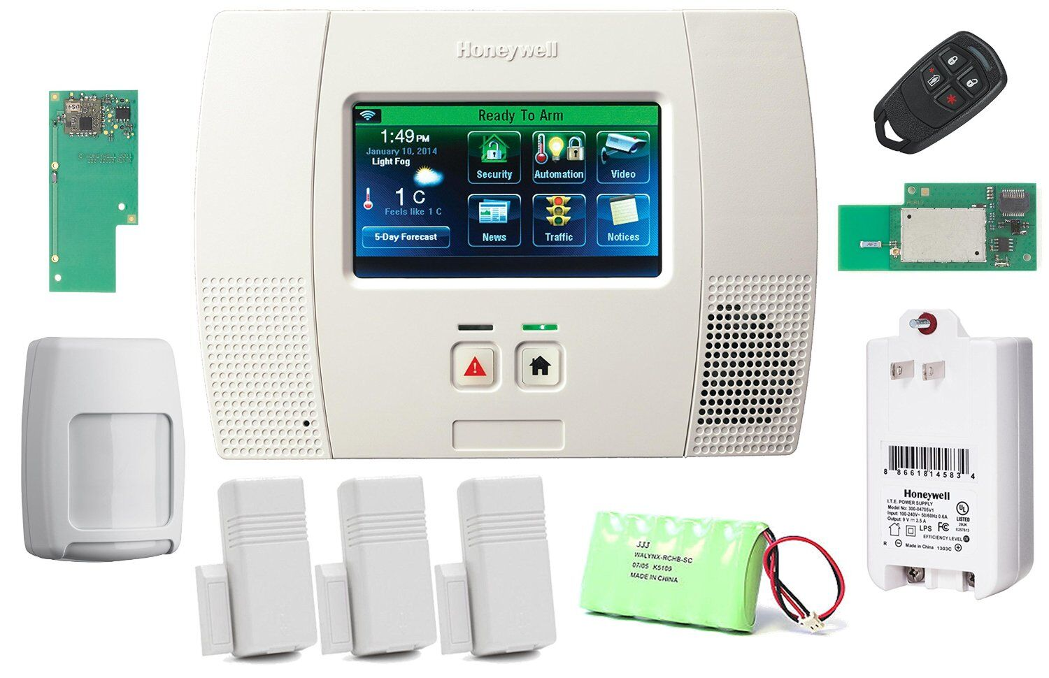 Diy Home Security Devices Honeywell Lynx Touch L5200 Wireless Home Security