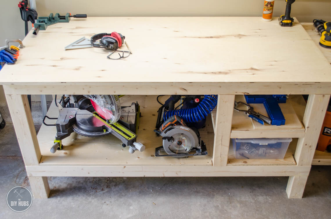 Diy Workbench With Wheels Free Workbench Plans The Diy Hubs