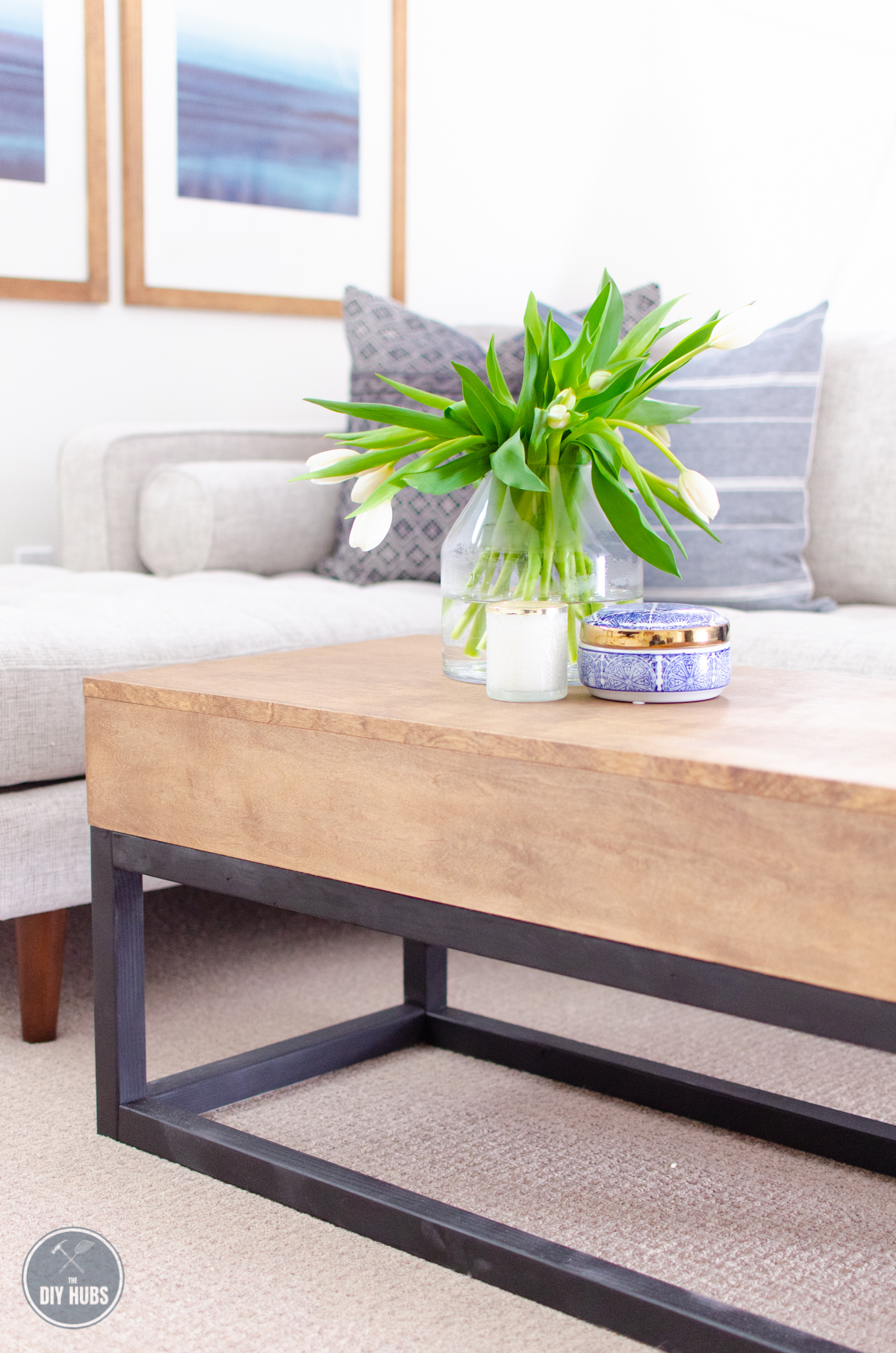Metal Coffee Table Faux Metal Coffee Table Free Plans The Diy Hubs