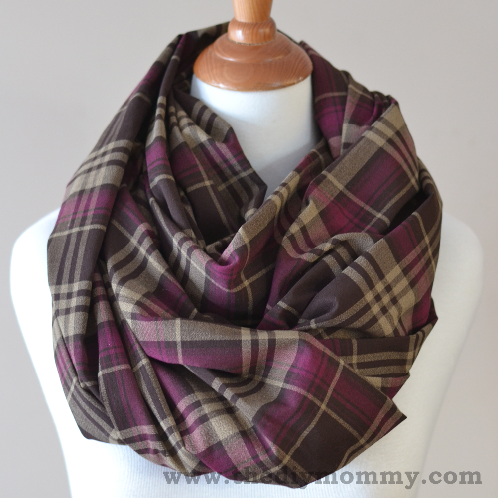 Sew the 15 Minute Infinity Scarf in 3 More Ways: Striped