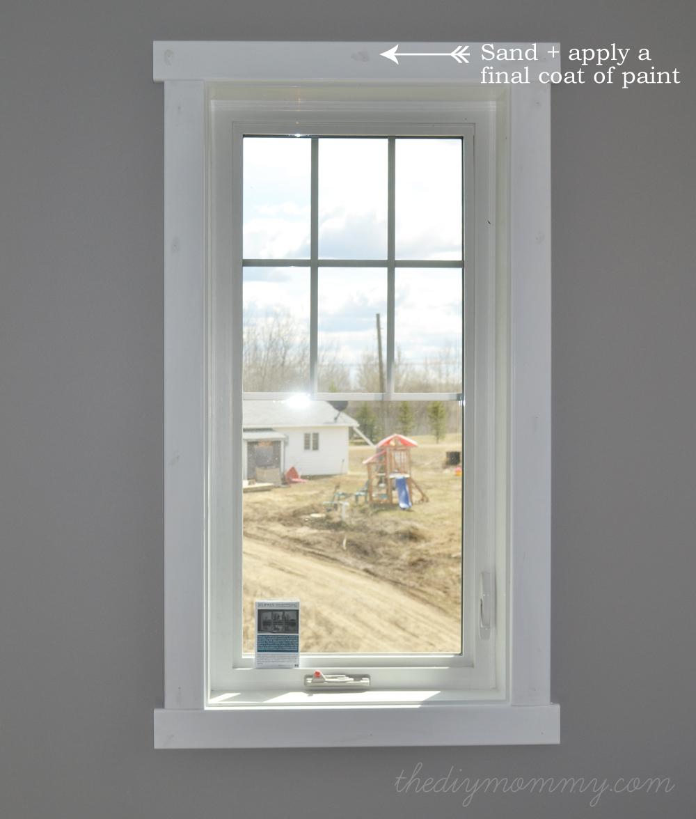 Diy simple craftsman shaker window door trim by the diy mommy