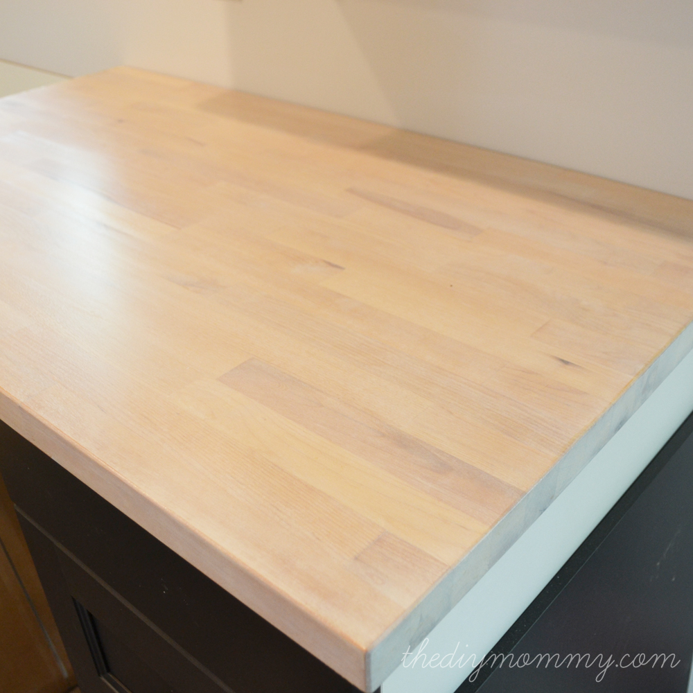 Ikea Wood Cutting Board Whitewash And Seal A Butcher Block Counter Top | The Diy Mommy