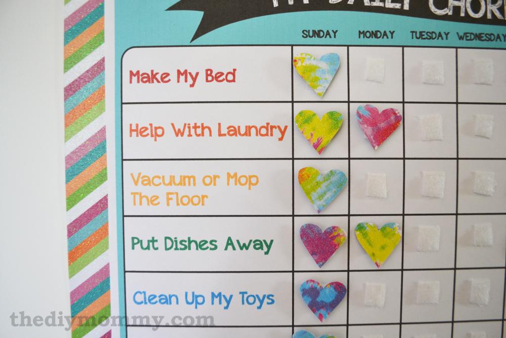 Make A Preschool Chore Chart - Free Printable The DIY Mommy
