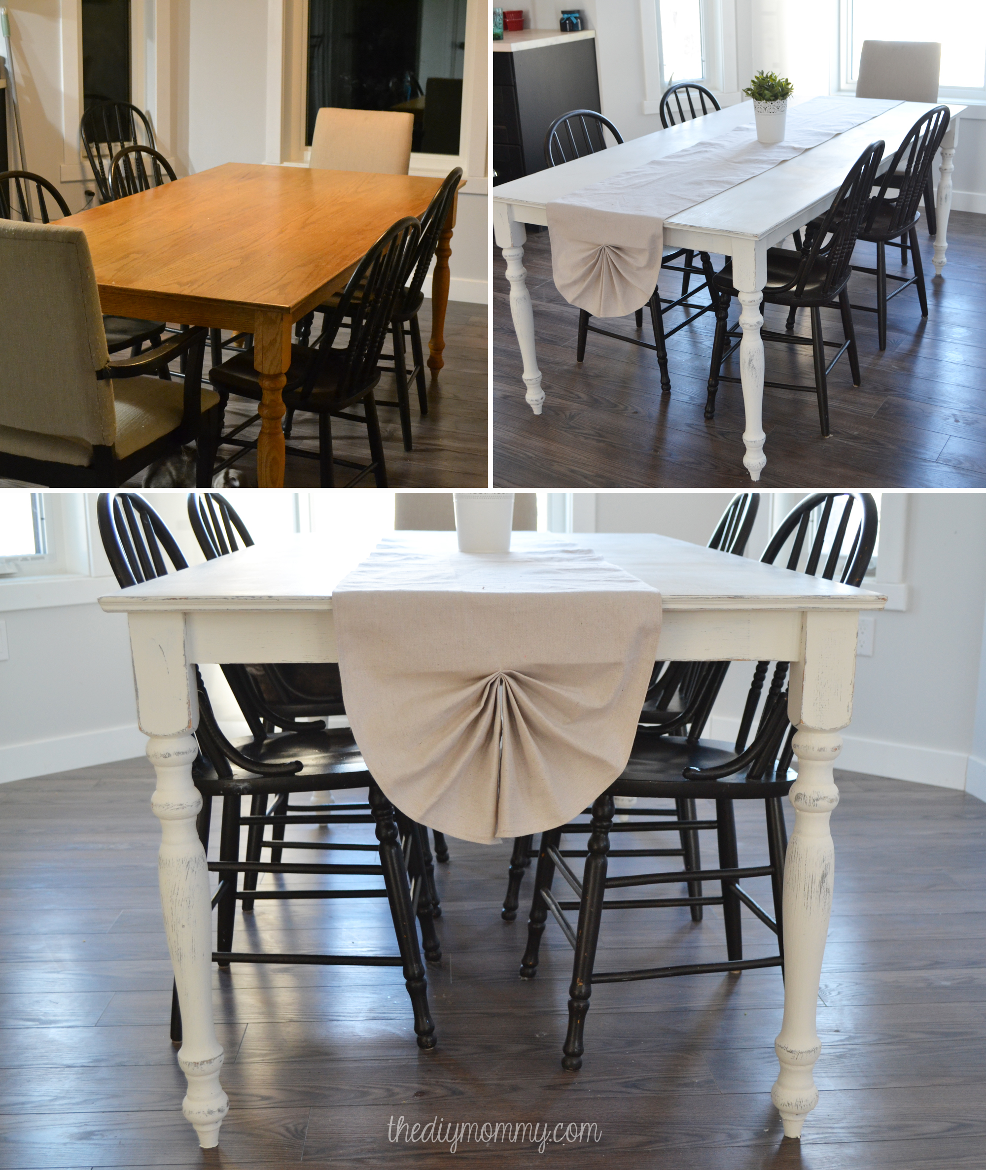 Diy Shabby Chic Dining Table And Chairs A Shabby Chic Farmhouse Table With Diy Chalk Paint The
