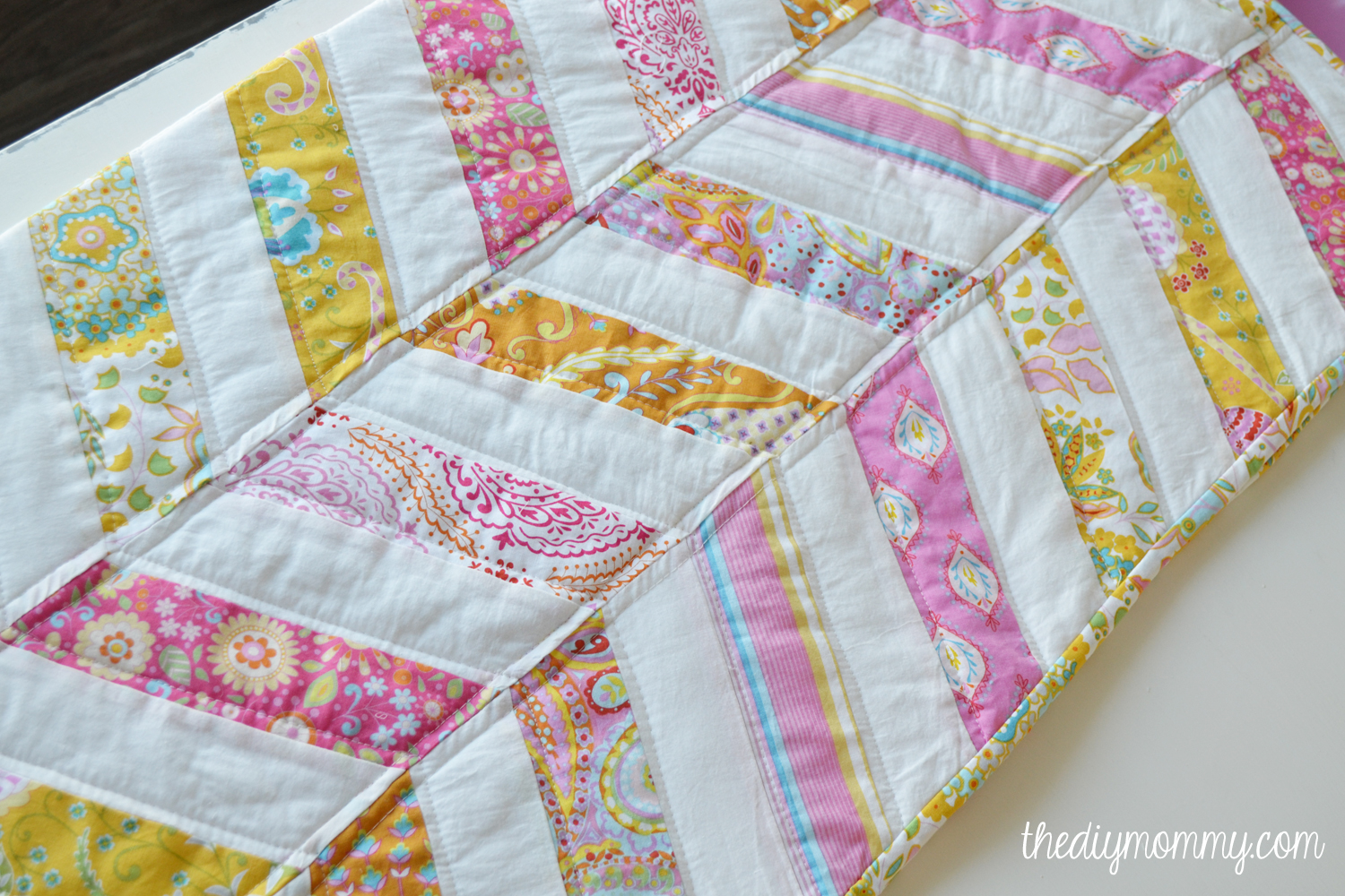 Sew An Easy Herringbone Baby Quilt The Diy Mommy