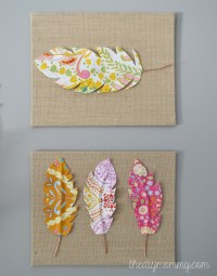 Make Fabric Feather Wall Art | The DIY Mommy