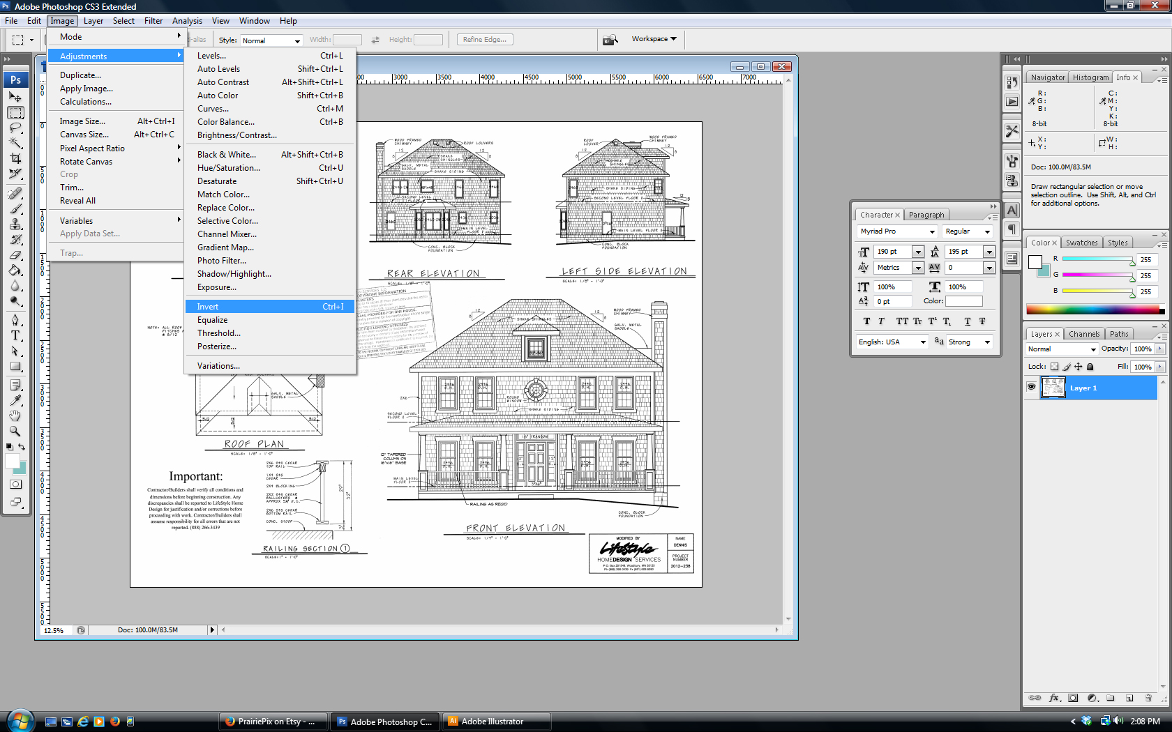 Vintage Architectural Blueprints Make Vintage Blueprint Artwork From Your House Plan With