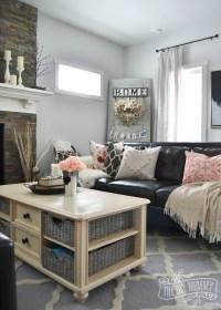 Black & Blush Pink Valentine's Day Home Decor Ideas + DIY