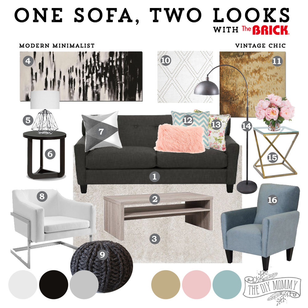 Edmonton Modern Furniture How To Style One Sofa Two Different Ways The Diy Mommy At The