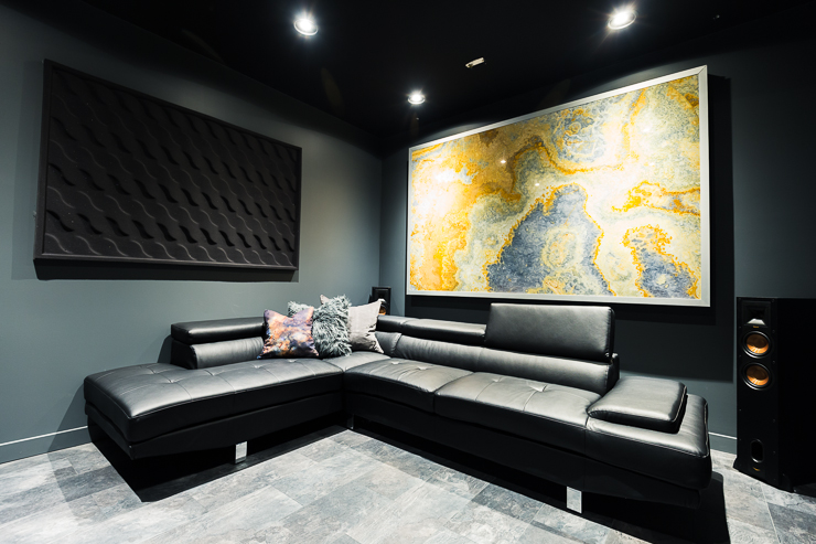 Theater With Sofa Seats Our Ultra Modern Theater Room Man Cave Reveal | The Diy Mommy