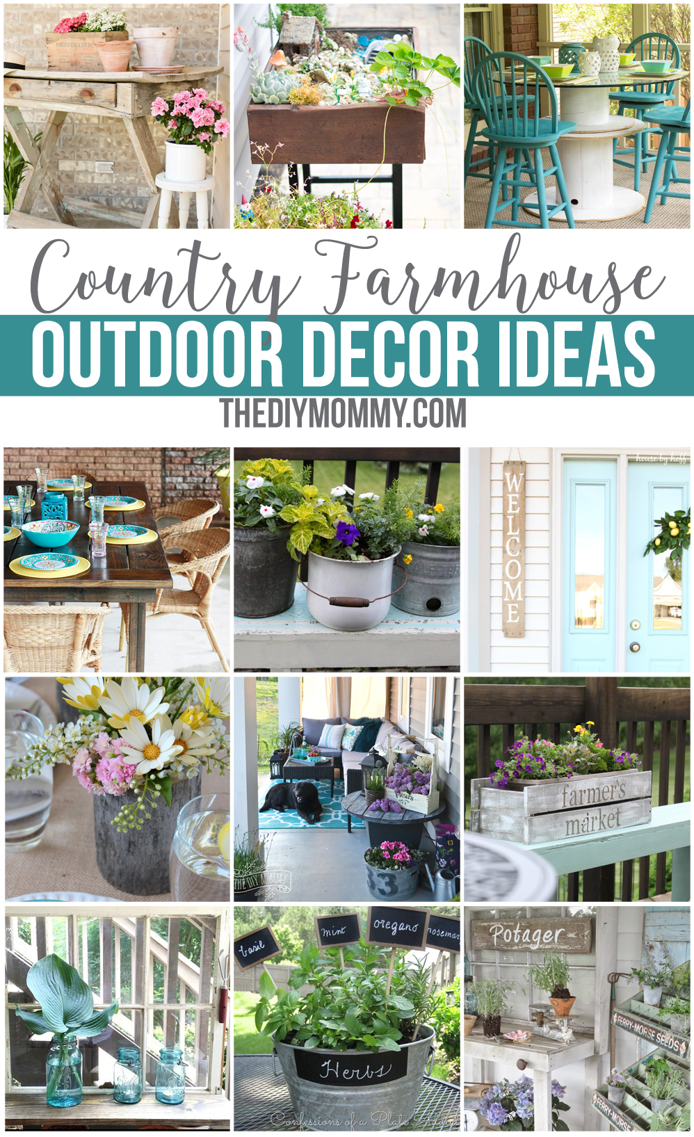Voguish Your Country Farmhouse Outdoor Dcor Ideas Diy Mommy Diy Outdoor Deck Decorating Ideas Diy Patio Decor Ideas Pinterest Country Farmhouse Outdoor Decor Diy Ideas outdoor Diy Backyard Decor Ideas