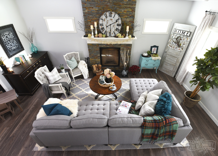 My Home Style Before and After Modern Boho Country Living Room - modern country living room