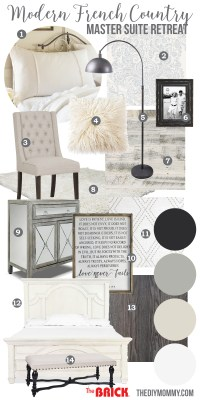 Mood Board: A Modern French Country Master Bedroom (My One ...