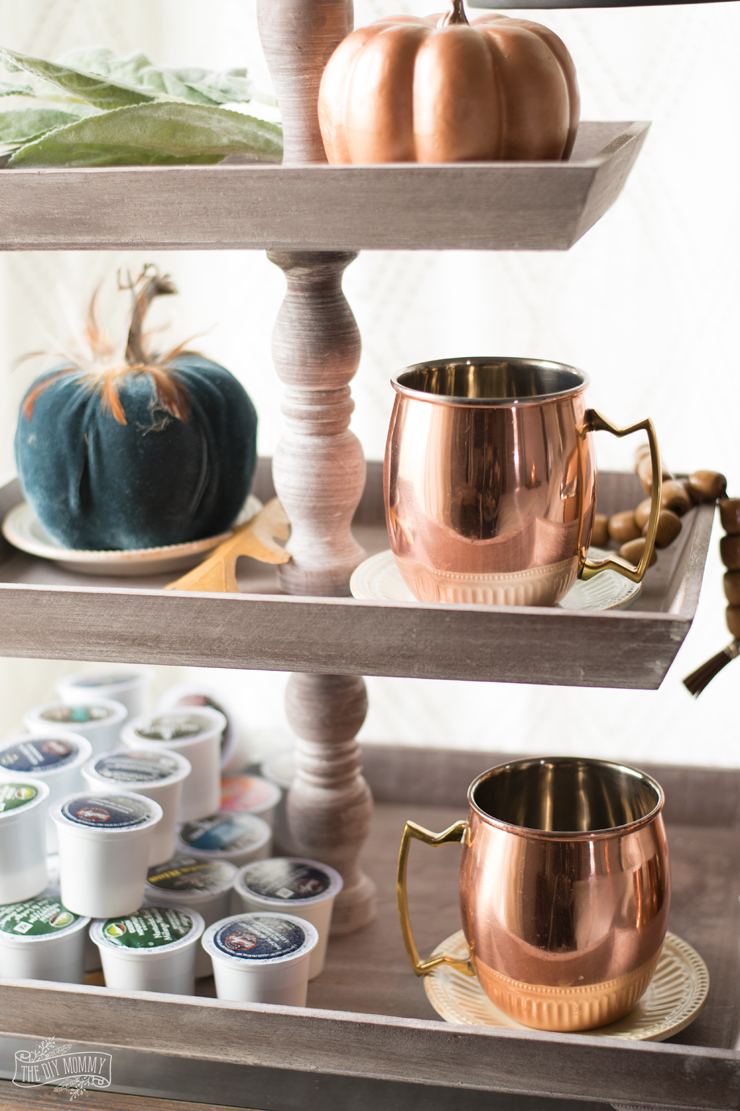 Coffee Station Copper Autumn Coffee Station The Diy Mommy