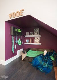 DIY Under Stairs Dog Nook with Handmade Dog Bed ...