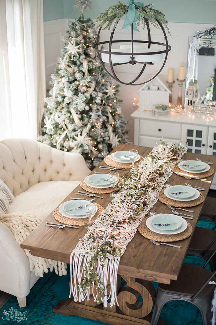 Decorating Ideas Dining Table French Country Farmhouse Christmas Dining Room Table Setting The