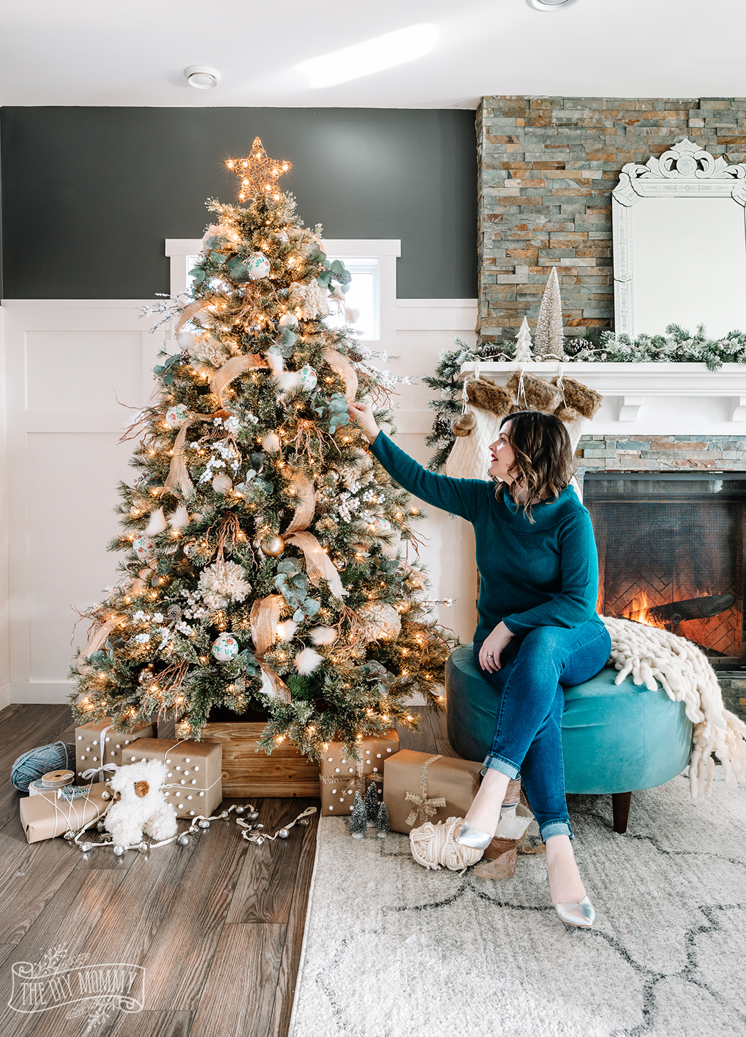 Rustic Boho Glam Christmas Tree Decorating Ideas The Diy Mommy