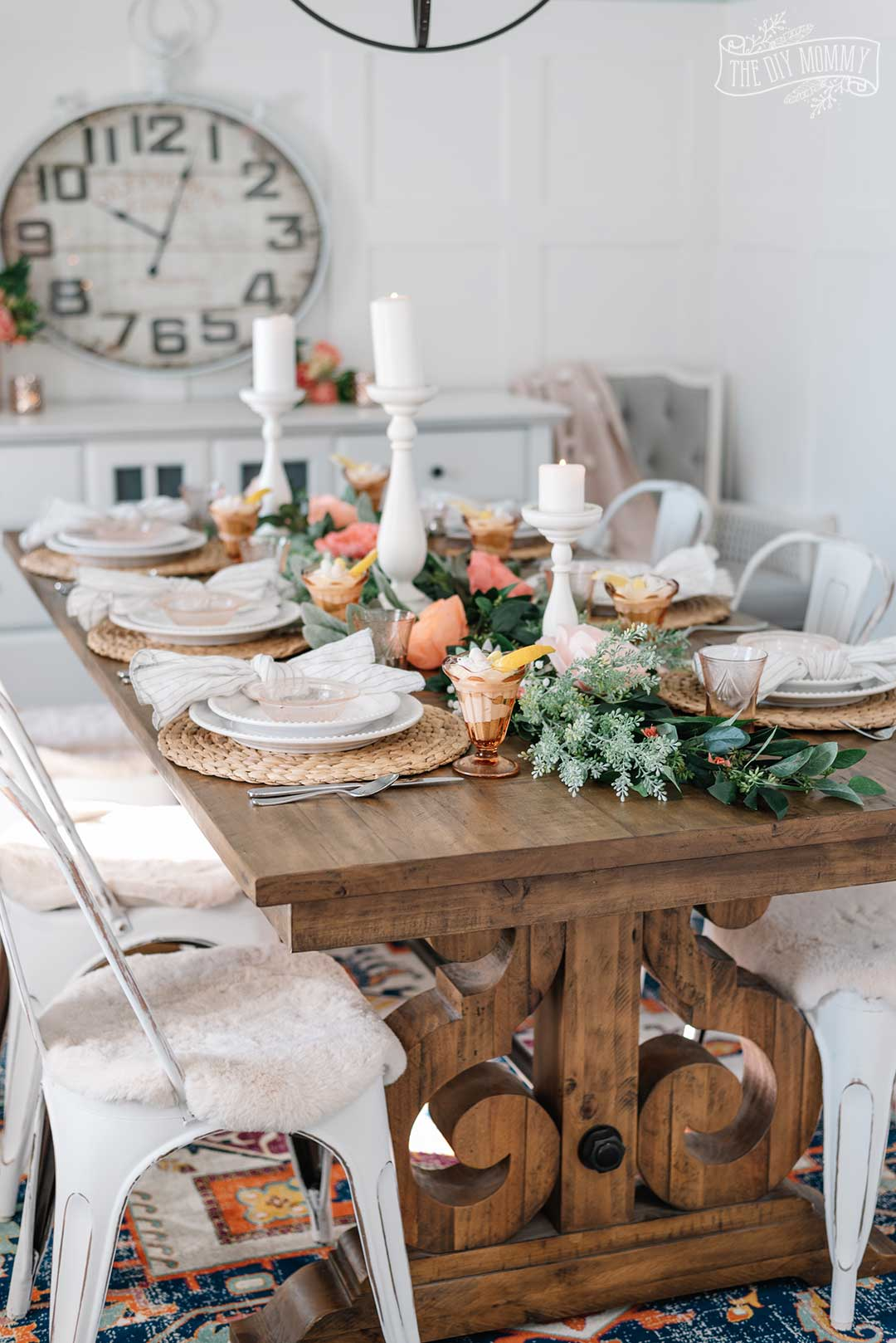Vintage Inspired Spring Tablescape Idea In Warm Pinks Yellows The Diy Mommy