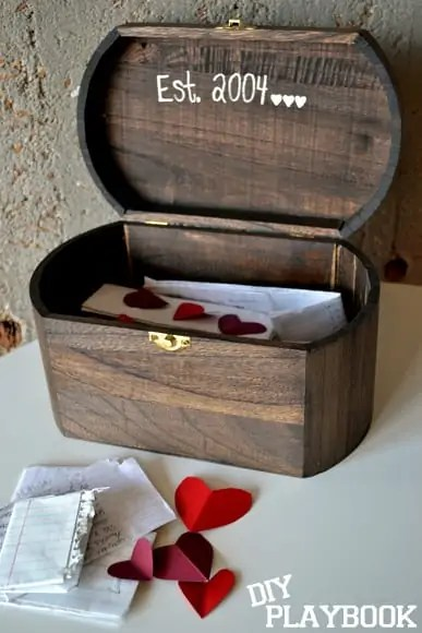 rustic love note box