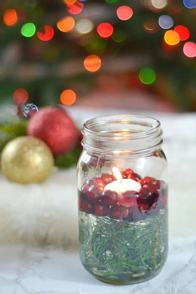 How To Make An Easy Kitchen Island How To Make A Mason Jar Christmas Candle Holder | The Diy