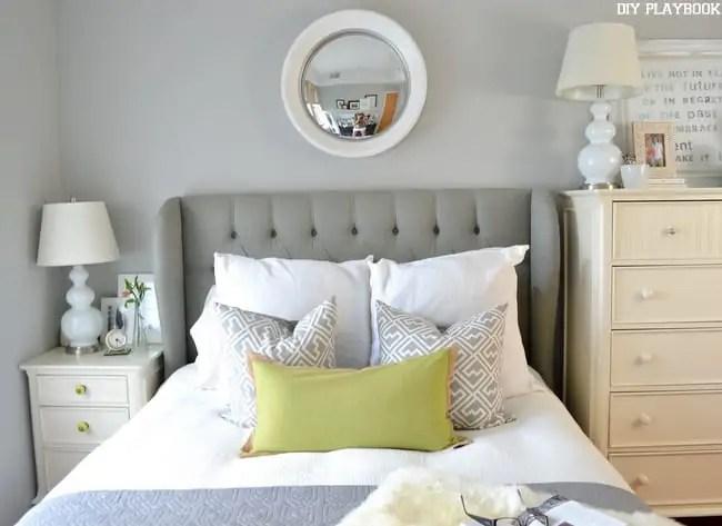 Gray-Headboard-White-Mirror