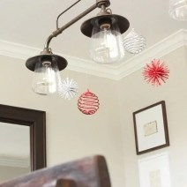 christmas light fixture ornament