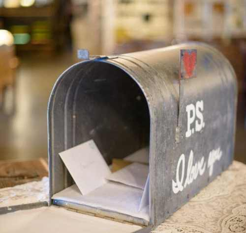 View More: http://i0.wp.com/thediyplaybook.com/wp-content/uploads/2014/12/Wedding-Mailbox.jpg?resize=500%2C475