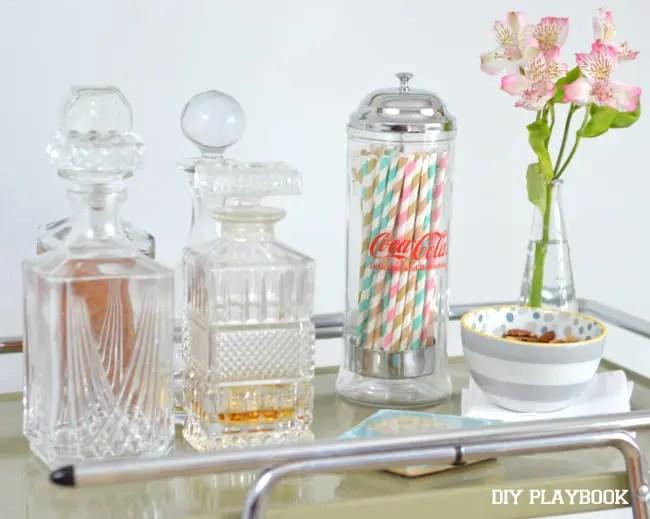 Crystal-Decanters-Bar-Cart